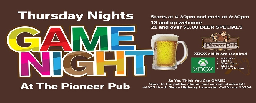 Game Night Every Thursday!